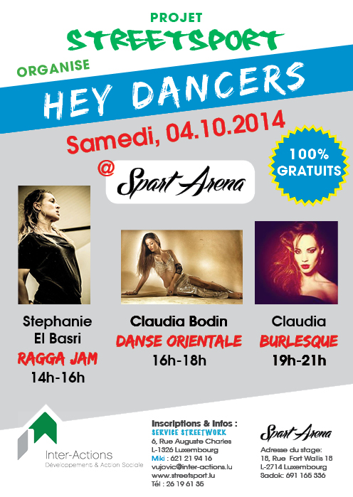 Hey Dancers - Ragga Jam,  Danse orientale, Burlesque
