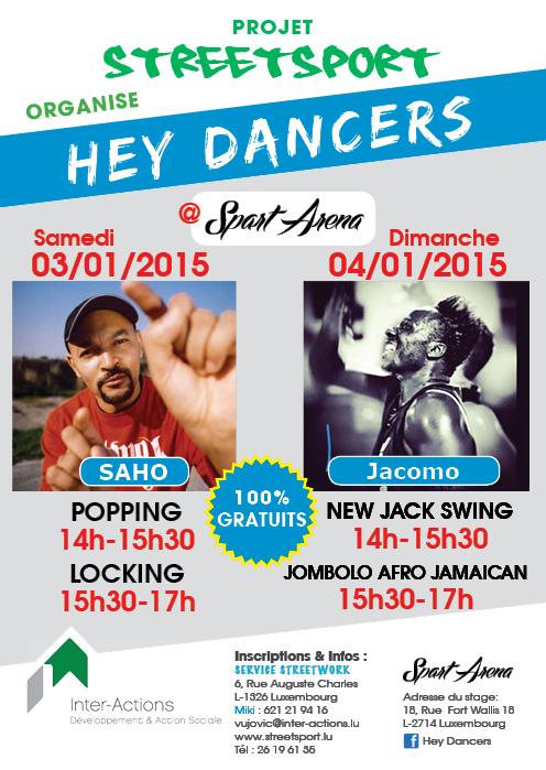Hey Dancers - Popping, Locking, New Jack Swing, Jambolo Afro Jamaican